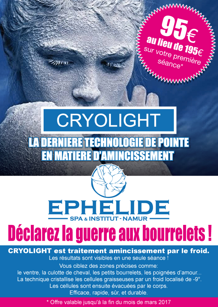 promo cryolight d clarez la guerre aux bourrelets eph lide institut spa. Black Bedroom Furniture Sets. Home Design Ideas